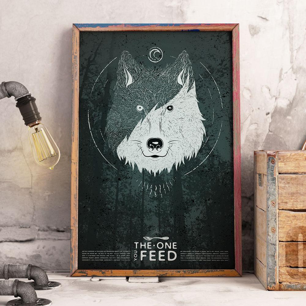 Poster Ilustrativo dos lobos