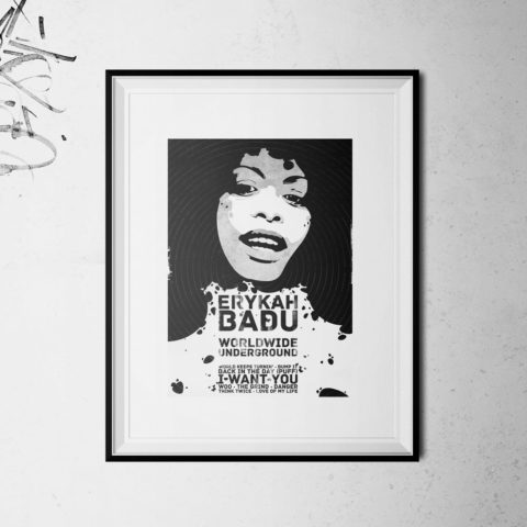Erykah Badu Artprint Poster