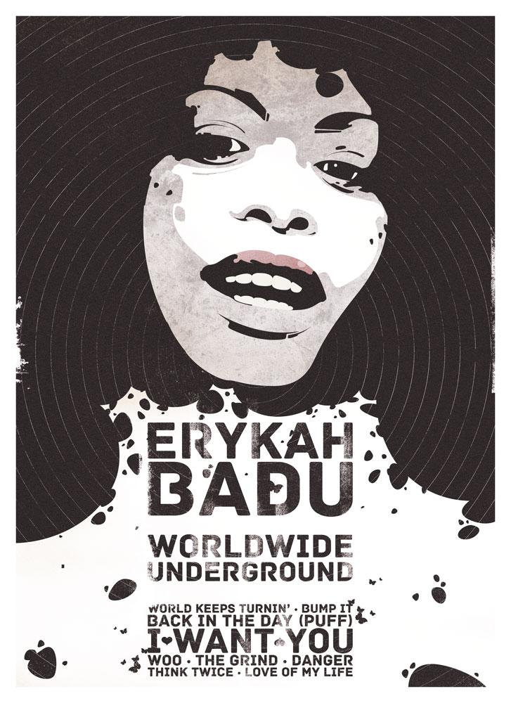 Erykah Badu Art Print Poster