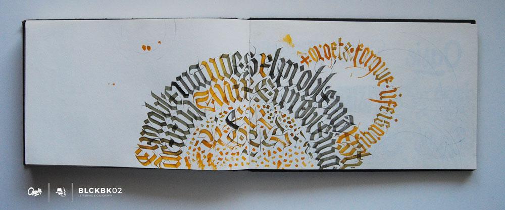 Blackbook de Caligrafía y Lettering